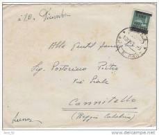 Luogotenenza MONUMENTI DISTRUTTI L. 2  Su 1,20 Siena   X Cannitello Reggio Calabria 10 12 1945 - Storia Postale