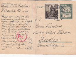 Card - GENERAGOUVERNEMENT - Occupation 1938-45