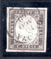 IV: 10c Brunogrigiolivastro (I) Usato Firmato ( € 165) - Sardegna