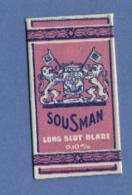 Une Lame De Rasoir   SOUSMAN / LONG SLOT BLADE 0.10m/m  (L78) - Scheermesjes