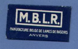 Une Lame De Rasoir  M.B.L.R. (Anvers / Belgique)   (L64) - Andere Sammlungen