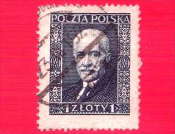 POLONIA - POLSKA - Usato - 1937 - Presidente  Ignacy Moscicki -  1 - 1919-1939 Republik