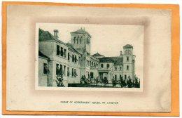 Gouverment House Mount Lagton Bermuda 1900 Postcard - Bermudes