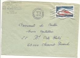 France, Lettre Simple Intérieur Non Urgent Yvert N° 1802 Validité 16/09/1974 Au 21/03/75 = 187 Jours - France