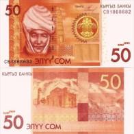 Kyrgyzstan 50 Som 2009 P 25 UNC BankNote - Kirghizistan