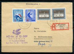 "DDR,GDR 1968 Portoger. Reco,Postal Cover,Einschreibbrief  Mit Mi.1318,1337,bef.""Frankfurt/O.-Neubrandenburg"" 1 Beleg - [6] Democratic Republic"