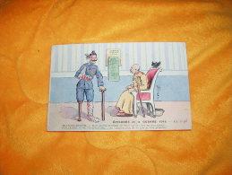 CARTE POSTALE CIRCULEE DATE 1916 / EPISODES DE LA GUERRE 1914 - EM.N°203 / FRANCOIS JOSEPH. ET GUILLAUME. / CACHETS . - Rambervillers