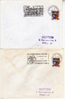 REUNION- 4 LETTRES AFFRANCHIES N° 377 AVEC FLAMMES DIFFERENTES- 1965-66 - Storia Postale