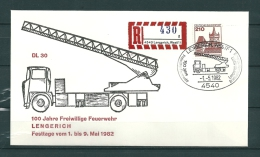 DUITSLAND, 01/05/1982 100 Jahre Freiwillige Feuerwehr  -  LENGERICH  (GA9821) - Brandweer