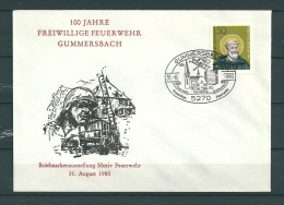 DUITSLAND, 31/08/1980 100 Jahre Freiwillige Feuerwehr  -  GUMMERSBACH  (GA9822) - Brandweer