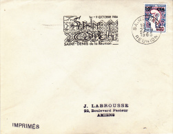 REUNION- LETTRE AFFRANCHIE N° 385 TYPE 2- ANNEE 1966 - Storia Postale