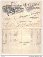 TARN ET GARONNE - SEPTFONDS - MANUFACTURE DE CHAPEAUX EN PAILLE - CHAPELLERIE - E.. MOURGUES FILS AINE -  CONTENU - 1917 - France