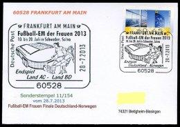 87121) BRD - SoST 11/154 - 60528 FRANKFURT AM MAIN Vom 28.7.2013 - Fußball-EM Der Frauen Finale Deutschland-Norwegen - Marcofilie - EMA (Printmachine)