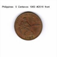 PHILIPPINES    5  CENTAVOS  1963  (KM # 187) - Philippinen
