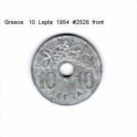 GREECE    10  LEPTA  1954  (KM # 78) - Griechenland