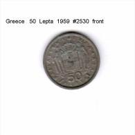 GREECE    50  LEPTA  1959  (KM # 80) - Griechenland