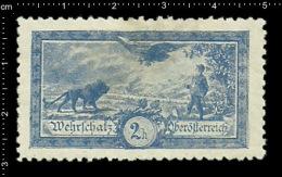 Old Original  Austrian Poster Stamp ( Cinderella, Reklamemarke) Propaganda Brand Military Lion Eagle Löwe Adler Cat - Big Cats (cats Of Prey)