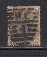 Great Britain Used Scott #84 4p Victoria, Gray Brown Plate 17 Position EH - Oblitérés