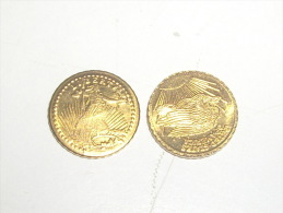 Saint Gaudens  1907 Or Plaqué 0,44 Gram - L. Gold (Oro)
