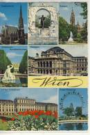 WIEN - Mehrbildkarte: Stephansdorm, Staatsoper, Prater-Riesenrad ...... - Wien