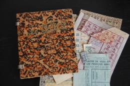 Rationnement - Carnet D´alimentation Et Ses Tickets Denrées Diverses, Viande, Pain, Produits Detersifs, Vetements - Documentos Históricos