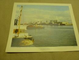 Cliché Lhommet De 1954  (27cm X 21cm)   Gros Cargos Et Navires Dans Le Port Du HAVRE....envoi Gratuit - Bateaux