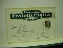 PESCARA  --- DITTA  FRATELLI  CIGLIA  -- STAB.LITOGRAFICO - Pescara