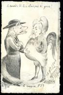Cpa Aquarellée Molynk -Le Crayon No 59 - Le Renard Si Tu N' étais Pas Si Gros !  Caricature  6ao Illus 1 - Satiriques