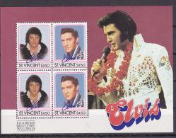 Minisheet: St. Vincent Elvis Presley Mint/**  (L1-6) - Elvis Presley