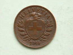 1914 - 2 RAPPEN / KM 4.2 ( Uncleaned - For Grade, Please See Photo ) ! - Suisse