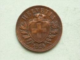 1925 - 2 RAPPEN / KM 4.2 ( Uncleaned - For Grade, Please See Photo ) ! - Schweiz