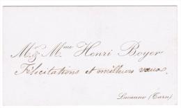 Mr & Mme HENRI BOYER LACAUNE TARN - Cartes De Visite