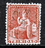 Trinidad  43  Perf 12 1/2  Clear 4 Margin  (o)  No Wmk. 1863 Issue - Trinidad & Tobago (...-1961)