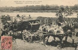 VISITE DE SA MAJESTE ALPHONSE XIII A PARIS . VINCENNES ARRIVEE DE M. LOUBET - Royal Families