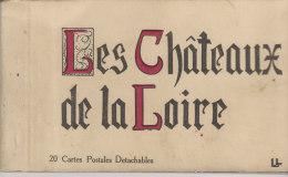 LES CHATEAUX DE LA LOIRE  20 CARTES - Postales