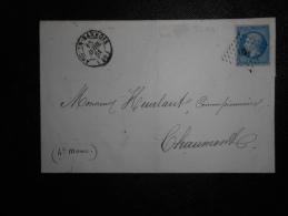 Lot Du 02.09.13-08_lettre De Arc-en-Barrois(50) PC 104, Variété Sur Cachet Au Verso Avec Et Sans Parenthèse!!; - 1853-1860 Napoléon III.