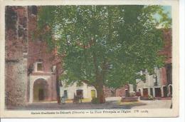 12165 - SAINT-GUILHEM-LE-DESERT - LA PLACE PRINCIPALE ET L'EGLISE ( Animées ) - Francia