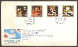PINTURA - PENRHYN 1989 - Yvert #358/61 - FDC - Religione