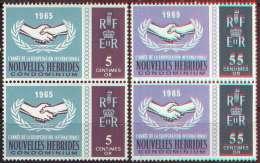 NOUVELLES HEBRIDES - NEW HEBRIDES - COOPERATION In PAIRS - **MNH - 1965 - Leyenda Francesa