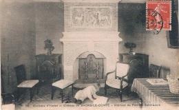 Environs D'YVETOT - Château De BAONS-LE-COMTE, Intérieur Du Pavillon Saint-Louis - Circulée 1909, Petit Format, 2 Scans - Yvetot