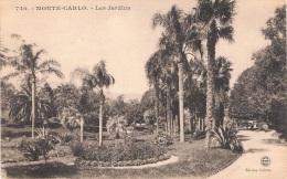 MONTE-CARLO - Les Jardins - Circulée 1921, Petit Format - Monte-Carlo