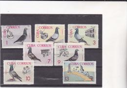 CUBA : Colombophilie : Y&T :o : 1016 à 1022 - Neufs