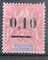 P 252 ++ MADAGASCAR 1902  HINGED PLAK(REST) - Madagaskar (1960-...)