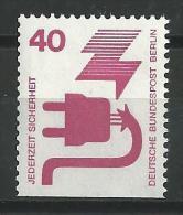 Berlin Nr. 407 D  Postfrisch  Dauerserie Unfallverhütung Unten Geschnitten Aus MH - Ungebraucht