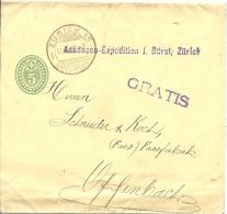 5 Rp Ganzsachen Mit Zusatzstempel GRATIS - Interi Postali