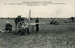 GRANDES MANOEUVRES D'AUTOMNE ARTILLERIE DE CAMPAGNE 1907 - Manovre