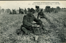 GRANDES MANOEUVRES D'AUTOMNE INFANTERIE 1907 - Manovre