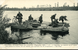GRANDES MANOEUVRES DE L'OUEST MARCILLY SAPEURS 6 GENIE ET CYCLISTES 1912 - Manovre