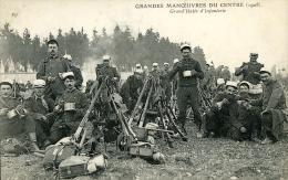 GRANDES MANOEUVRES DU CENTRE GRAND'HALTE D' INFANTERIE 1908 - Manovre