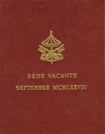 VATICANO -  SEDE VACANTE SEPTEMBER 1978 - FDC UNC - Vatican